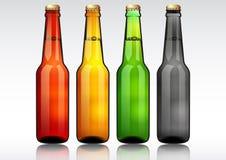 Botella de cerveza de cristal Imagen de archivo