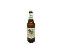 Botella de cerveza de Singha 500 ml Fotografía de archivo