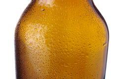 Botella de cerveza en blanco Fotos de archivo libres de regalías