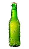 Botella de cerveza escarchada fotos de archivo