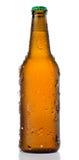 Botella de cerveza fría fotografía de archivo libre de regalías