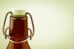 Botella de cerveza retra alemana Fotografía de archivo