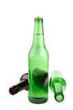 Botella de cerveza tres Imágenes de archivo libres de regalías