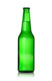 Botella de cerveza verde Foto de archivo libre de regalías