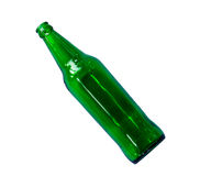 Botella de cerveza verde vacía Foto de archivo