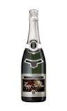 Botella de Champán con la escritura de la etiqueta del Año Nuevo Fotografía de archivo