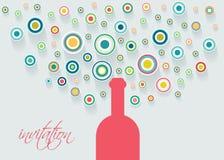 Botella de Champán con las burbujas stock de ilustración