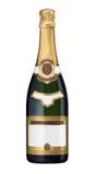 Botella de Champán - esconda las escrituras de la etiqueta Foto de archivo