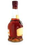 Botella de coñac Foto de archivo libre de regalías