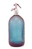 Botella de cristal atada con alambre vieja del sifón Foto de archivo