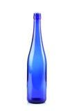 Botella de cristal azul Imagen de archivo libre de regalías