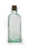 Botella de cristal con el corcho Imágenes de archivo libres de regalías