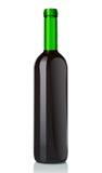 Botella de cristal con el vino rojo Foto de archivo libre de regalías