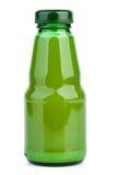 Botella de cristal con el zumo de lima fotos de archivo