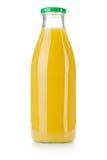 Botella de cristal de jugo de piña Fotos de archivo