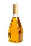 Botella de cristal transparente de aceite vegetal Imagen de archivo libre de regalías