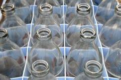 Botella de cristal usada de agua de soda Fotografía de archivo