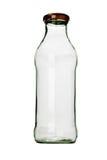 Botella de cristal vacía Foto de archivo libre de regalías