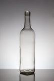 Botella de cristal vacía Fotos de archivo libres de regalías