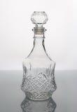 Botella de cristal vacía Imagen de archivo libre de regalías