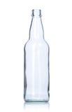 Botella de cristal vacía clara Fotografía de archivo