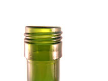 Botella de cristal verde Fotografía de archivo libre de regalías