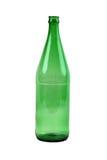Botella de cristal verde Imagenes de archivo