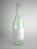 botella de cristal verde Imagen de archivo
