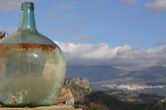 Botella de cristal vieja Fotografía de archivo