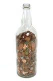 Botella de dinero Imagen de archivo libre de regalías