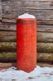 Botella de gas vieja Imagen de archivo