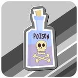 Botella de ilustración del veneno Foto de archivo libre de regalías