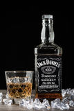 Botella de Jack Daniel foto de archivo libre de regalías