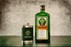Botella de Jagermeister Imagen de archivo libre de regalías