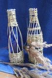 Botella de la decoración para el vino Imagen de archivo