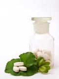 Botella de la farmacia de píldoras Imagen de archivo libre de regalías
