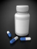 Botella de la medicina ilustración del vector