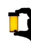 Botella de la medicina con la píldora imágenes de archivo libres de regalías