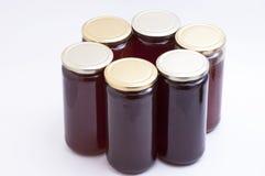 Botella de la miel Imagen de archivo libre de regalías