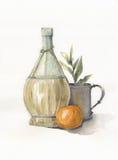 Botella de la pintura Fotografía de archivo libre de regalías