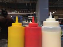 Botella de la salsa imagen de archivo libre de regalías