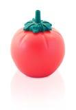 Botella de la salsa de tomate con el clipp Fotos de archivo