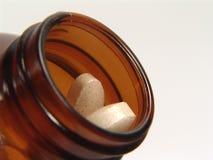 Botella de la vitamina imagenes de archivo