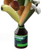 Botella de la vitamina Imagen de archivo libre de regalías