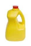 Botella de leche con el camino de recortes Foto de archivo