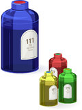 Botella de los datos Imagen de archivo libre de regalías