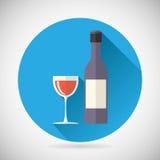 Botella de lujo del símbolo del alcohol del vino con el tapón y Foto de archivo libre de regalías