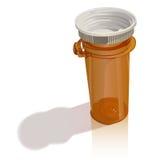Botella de píldora moderna Imagen de archivo libre de regalías