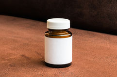 Botella de píldoras Fotos de archivo libres de regalías