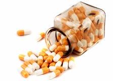 Botella de píldoras médicas imagenes de archivo